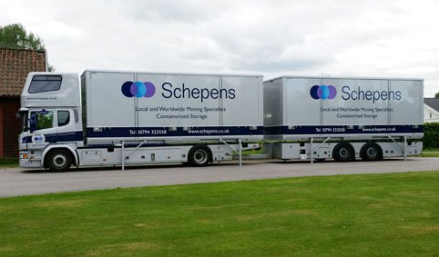 removal lorry furniture removals to Switzerland
