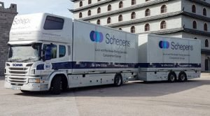 Removals lorry part load removals to Belgium