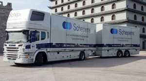 Removal Lorry Moving to Belgium from UK