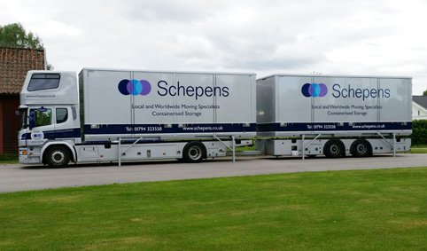 Removal lorry house movers to Switzerland