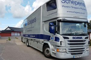 removal lorry emigrating to Lund